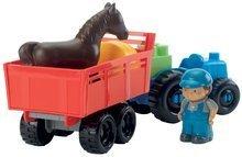 Stavebnice Abrick - Stavebnica traktor s vlečkou a zvieratkami Abrick Écoiffier 25 dielov od 18 mes_3