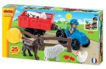 Stavebnice Abrick - Stavebnica traktor s vlečkou a zvieratkami Abrick Écoiffier 25 dielov od 18 mes_5