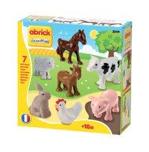 Stavebnice Abrick - Zvieratká z farmy Abrick Écoiffier 7 kusov 8 cm od 18 mes_3