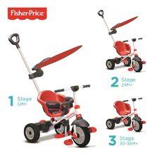 Tříkolka Fisher-Price Charm Plus Touch Steering smarTrike se slunečníkem od 12 měsíců červená