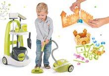 Set upratovací vozík s vedrom Clean Smoby zelený + vysávač + perníková chalúpka SM330300-4