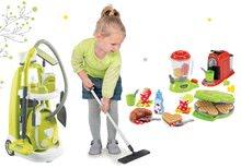 Hry na domácnosť - Set upratovací vozík s elektronickým vysávačom Vacuum Cleaner Smoby a vaflovač s mixérom kávovarom a hriankovač s vajíčkami_20