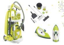 Hry na domácnosť - Set upratovací vozík s elektronickým vysávačom Vacuum Cleaner Smoby a elektronická žehlička a odrážadlo s bagrom_27