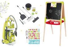Hry na domácnosť - Set upratovací vozík s elektronickým vysávačom Vacuum Cleaner Smoby a školská tabuľa obojstranná magnetická so stoličkou_33