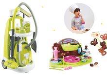 Set upratovací vozík s elektronickým vysávačom Clean Smoby+čokoládovňa pre deti SM330301-6