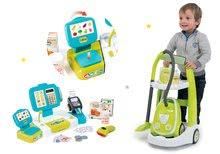 Hry na domácnosť - Set upratovací vozík s elektronickým vysávačom Vacuum Cleaner Smoby a elektronická pokladňa s potravinami a ovocím a zeleninou_23