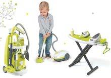 Hry na domácnosť - Set upratovací vozík s elektronickým vysávačom Vacuum Cleaner Smoby so žehliacou doskou a hriankovač s vaflovačom a kávovarom_25