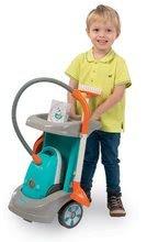 Hry na domácnosť - Set upratovací vozík Clean Service a 9 doplnkov a žehliaca doska s elektronickou žehličkou Tefal_3
