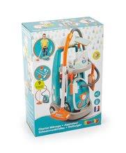 Igre kućanstva - Kolica za čišćenje s elektroničkim usisivačem Vacuum Cleaner Smoby tirkizna s 9 dodataka_13