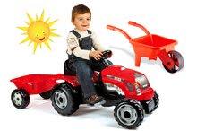 Detské šliapacie vozidlá sety - Set traktor na šliapanie Farmer XL Smoby s prívesom a fúrik_13
