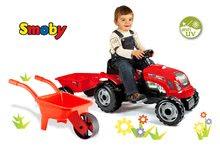 Detské šliapacie vozidlá sety - Set traktor na šliapanie Farmer XL Smoby s prívesom a fúrik_14
