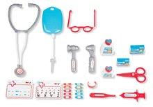 Lékařské vozíky pro děti - Lékařský vozík Medical Smoby elektronický s modrým kufříkem a 16 doplňky_1