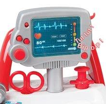 Lékařské vozíky pro děti - Lékařský vozík Medical Smoby elektronický s modrým kufříkem a 16 doplňky_4