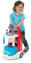 Lékařské vozíky pro děti - Lékařský vozík Medical Smoby elektronický s modrým kufříkem a 16 doplňky_3