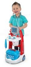 Lékařské vozíky pro děti - Lékařský vozík Medical Smoby elektronický s modrým kufříkem a 16 doplňky_2