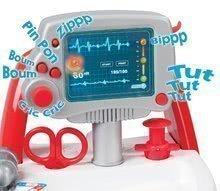 Lékařské vozíky pro děti - Lékařský vozík Medical Smoby elektronický s modrým kufříkem a 16 doplňky_0