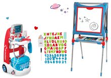 Set lekársky vozík elektronický Medical Smoby tabuľa magnetická obojstranná, polohovateľná