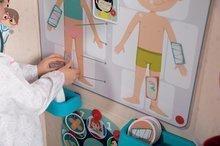 Školní tabule - Lékařská ordinace s anatomií lidského těla Doctor's Office Smoby oboustranná s rentgenem a zrakovým testem a 65 doplňků_5
