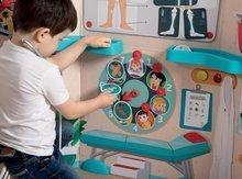 Šolske table - Zdravniška ambulanta z anatomijo človeškega telesa Doctor's Office Smoby dvostranska z rentgenom in testom vida ter 65 dodatki_7