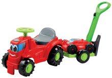 Odrážedlo Traktor 2v1 Écoiffier se sekačkou na přívěsu červené od 12 měsíců