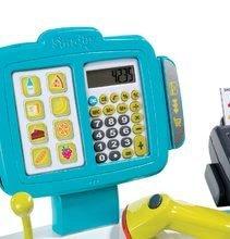 Hry na domácnost - Set úklidový vozík s elektronickým vysavačem Clean Smoby a elektronická pokladna s doplňky_12