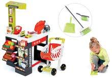 Set obchod pre deti Supermarket Smoby s elektronickou pokladňou a upratovací set