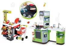 Obchody pre deti sety - Set obchod Supermarket Smoby s elektronickou pokladňou a kuchynka Cookmaster Verte s ľadom_31