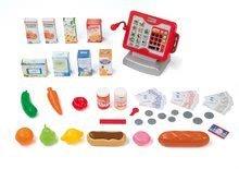 Obchody pre deti - Obchod Supermarket Smoby s elektronickou pokladňou, vozíkom, potravinami a 44 doplnkami biely_0