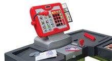 Obchody pre deti - Obchod Supermarket Smoby s elektronickou pokladňou, vozíkom, potravinami a 44 doplnkami biely_1