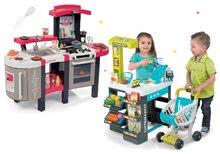 Set detský obchod Supermarket Smoby s elektronickou pokladňou a kuchynka Tefal Superchef s grilom