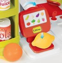 Obchody pre deti - Obchod Supermarket Smoby elektronický s váhou, pokladňou, potravinami a 41 doplnkami červený_7