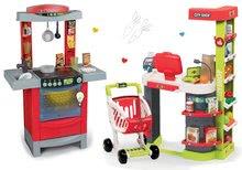 Obchody pre deti sety - Set obchod Maxi Market Smoby s elektronickou pokladňou a kuchynka Cook'Tronic Tefal so zvukmi a svetlom_22