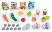 Obchody pre deti - Obchod s potravinami Market Smoby tyrkysový s elektronickou pokladňou, skenerom a 34 doplnkov_3