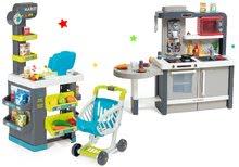 Obchody pre deti sety - Set obchod Market Smoby s elektronickou pokladňou a kuchynka rastúca Tefal Evolutive s ľadom a mikrovlnkou_65
