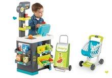 Obchody pre deti sety - Set obchod Market Smoby s elektronickou pokladňou a kuchynka rastúca Tefal Evolutive s ľadom a mikrovlnkou_64