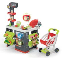 Trgovine kompleti - Komplet trgovina z vozičkom Supermarket Smoby in sladoled s kornetom_14