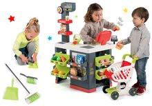 Set obchod Supermarket Smoby s elektronickou pokladňou a upratovací set