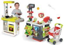 Obchody pre deti sety - Set obchod Supermarket Smoby s elektronickou pokladňou a kuchynka Cherry so zvukmi_29