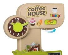 Obchody pro děti sety - Set kavárna s Espresso kávovarem Coffee House Smoby a zmrzlina s kornoutkem jako dárek_3