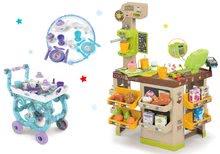 Obchody pre deti sety - Set kaviareň s Espresso kávovarom Coffee House Smoby a servírovací vozík Frozen XL Tea Trolley_24