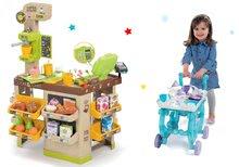 Obchody pre deti sety - Set kaviareň s Espresso kávovarom Coffee House Smoby a servírovací vozík Frozen XL Tea Trolley_23
