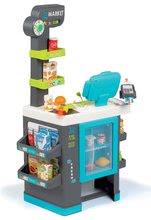 Obchody pro děti - Obchod s chladicím boxem Fresh City Market Smoby s elektronickou pokladnou skenerem a 34 doplňků_12