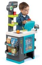 Obchody pro děti - Obchod s chladicím boxem Fresh City Market Smoby s elektronickou pokladnou skenerem a 34 doplňků_5
