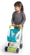 Obchody pro děti - Obchod s chladicím boxem Fresh City Market Smoby s elektronickou pokladnou skenerem a 34 doplňků_6