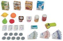 Obchody pro děti - Obchod s chladicím boxem Fresh City Market Smoby s elektronickou pokladnou skenerem a 34 doplňků_8