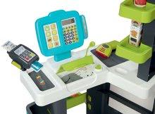 Obchody pro děti - Obchod s chladicím boxem Fresh City Market Smoby s elektronickou pokladnou skenerem a 34 doplňků_9