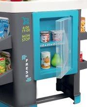 Obchody pro děti - Obchod s chladicím boxem Fresh City Market Smoby s elektronickou pokladnou skenerem a 34 doplňků_0