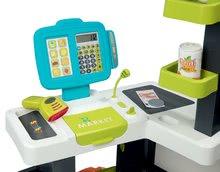Obchody pro děti - Obchod s chladicím boxem Fresh City Market Smoby s elektronickou pokladnou skenerem a 34 doplňků_2
