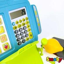 Obchody pro děti - Obchod s chladicím boxem Fresh City Market Smoby s elektronickou pokladnou skenerem a 34 doplňků_11