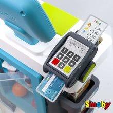 Obchody pro děti - Obchod s chladicím boxem Fresh City Market Smoby s elektronickou pokladnou skenerem a 34 doplňků_1